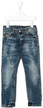 John Richmond Kids RICH printed distressed jeans