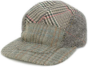 Stella McCartney herringbone and checked cap