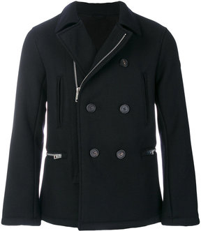 Armani Jeans double-breasted zip coat
