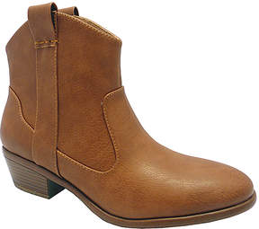 Wild Diva Cognac Manny Ankle Boot