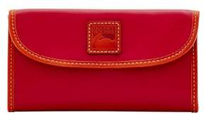Dooney & Bourke Wexford Leather Continental Clutch Wallet - WINE - STYLE