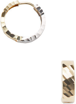 Candela Women's 14K Yellow & White Gold Reversible Huggie Hoop Earrings