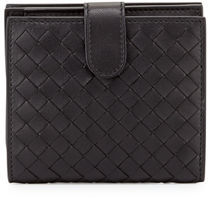 Bottega Veneta Small French Woven Bi-Fold Wallet