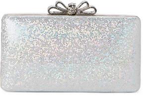 La Regale Silver Bow Shimmer Convertible Clutch
