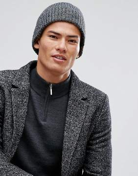 New Look Beanie In Black Marl