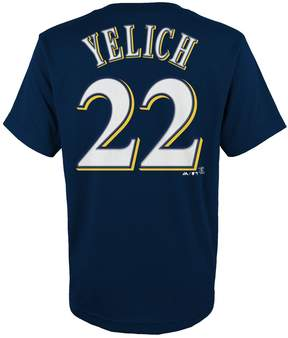 Majestic Boys 4-18 Milwaukee Brewers Christian Yelich Name & Number Tee
