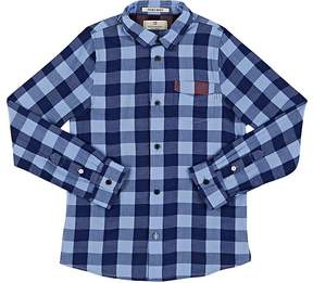 Scotch Shrunk Kids' Gingham Washed Cotton Poplin Shirt