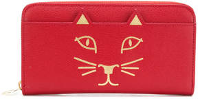 Charlotte Olympia Feline zip around purse