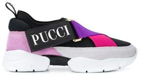 Emilio Pucci Women's 8rce808rx80a73 Black/pink Polyurethane Slip On Sneakers.