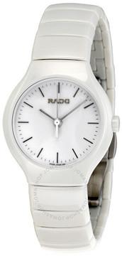 Rado True White Dial Chronograph Ceramic Ladies Watch