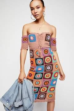 Bali Racing Hearts Crochet Midi Dress