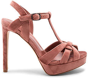 Lola Cruz Velvet T-Strap Heel