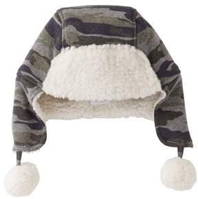 Mud Pie Infant Camo Fleece Hat - Green