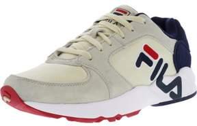 Fila Men's Mindbender Cream / Navy White Ankle-High Running Shoe - 10M