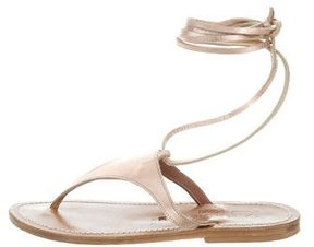 K Jacques St Tropez Metallic Thong Sandals