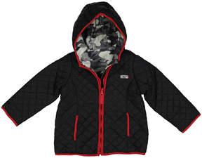 Weatherproof Black & Gray Camo Reversible Jacket - Toddler