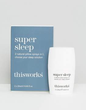 this works This Works Super Sleep Dual Pillow Spray 2 x 20ml