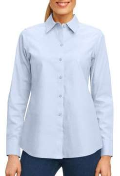 Foxcroft Solid Button-Down Shirt