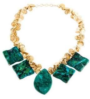 Devon Leigh Chrysocolla Coin Necklace