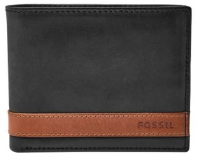 Fossil Men's 'Quinn' Leather Bifold Wallet - Black