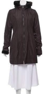 Andrew Marc Hooded Short Coat