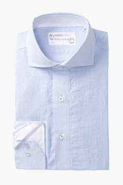 Lorenzo Uomo Track Stripe Trim Fit Dress Shirt
