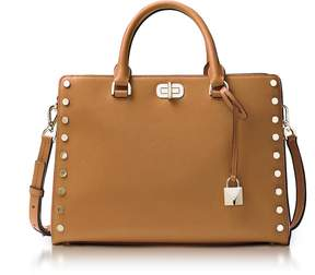 Michael Kors Sylvie Stud Large Acorn Leather Satchel Bag - ONE COLOR - STYLE