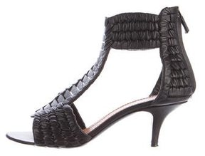 Givenchy Leather Woven Sandals