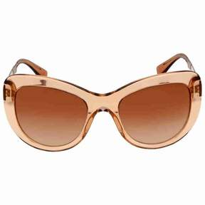 Versace Brown Gradient Cat Eye Sunglasses