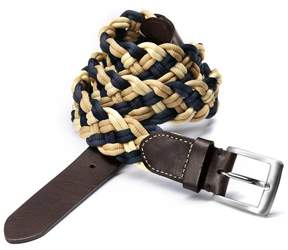 Charles Tyrwhitt Navy Multi Plaited Belt Size 38-40