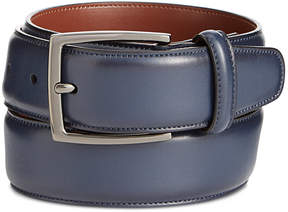 Perry Ellis Men's Navy Burnished Leather Belt