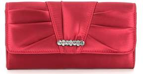 Kate Landry Pleated Bow Clutch