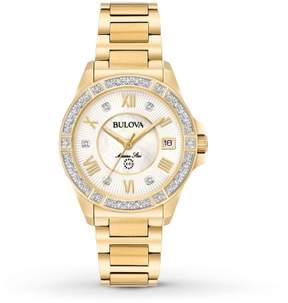 Bulova Women's Quartz Stainless Steel Casual Watch, Color:Gold-Toned (Model: 98R235)