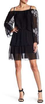 Luma Ruffle Tiered Silk Blend Dress