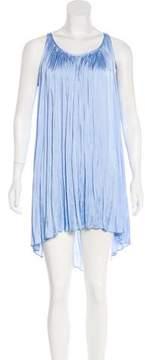 Calypso Sleeveless Satin Mini Dress