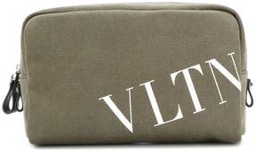 Valentino logo print wash bag