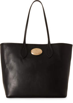 Roberto Cavalli Black Leather Shopping Tote