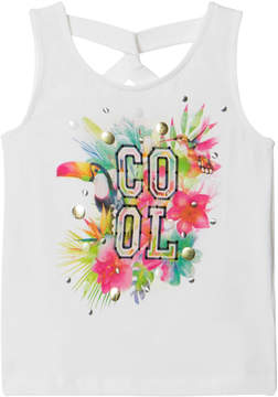 Mayoral White Tropical Cool Tank Top