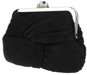 Nina Alessa Pleated Chiffon On Frame Clutch.