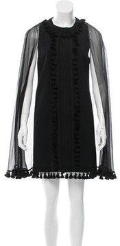 Andrew Gn Tassel-Trimmed Mini Dress w/ Tags