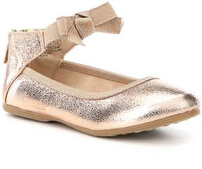 Kenneth Cole New York Girls Rose Bow Ankle Strap Ballerina Flats