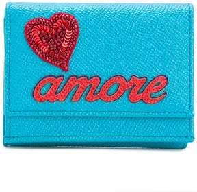 Dolce & Gabbana Amore appliqué wallet