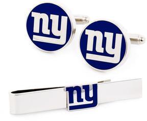 Ice New York Giants Cufflinks and Tie Bar Gift Set