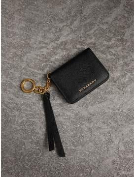 Burberry Grainy Leather ID Card Case Charm