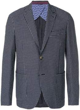 Etro windowpane check blazer