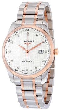 Longines Elegant Silver Diamond Dial Men's Watch