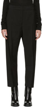 Jil Sander Black Cropped Burt Trousers