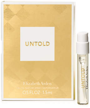 Receive a Free Untold fragrance sample with any Elizabeth Arden fragrance purchase