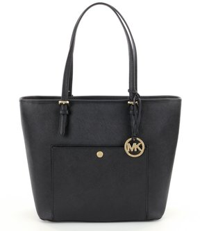 MICHAEL Michael Kors Jet Set Large Snap-Pocket Tote - BLACK - STYLE