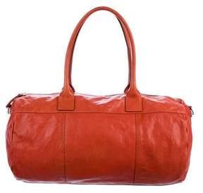 Brunello Cucinelli Leather Zip Satchel